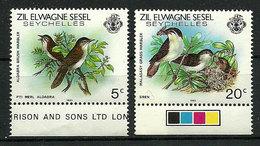 Seychelles Zil Elwagne Sesel 1983 - Faune Et Flore Terrestres Et Marines - 2 TP - Neuf**