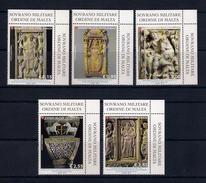 S.M.O.M. / SMOM [2017] La Scultura Nell'arte Bizantina/the Sculpture In Byzantine Art (set Of 5 Stamps) - As Scan
