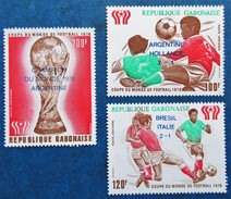 A Vends 3 Timbres Neufs** Du Gabon, N°pa 211/3 De 1978 : Mondial Argentin 78