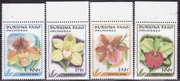BURKINA FASO 1996 ORCHIDS, FLOWERS Mi 1423-1426  MNH**