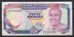 534-Zambie Billet De 50 Kwacha 1989-91 AC723 Sig.8 - Zambie
