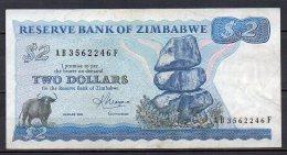 528-Zimbabwe Billet De 2 Dollars 1983 AB356F - Simbabwe