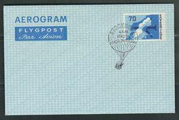 SUEDE 1968 Aérogramme Obl.  Commémorative