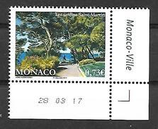 Monaco 2017 - Yv N° 3092 ** -  LES JARDINS SAINT-MARTIN (Mi N° 3348) - Unused Stamps