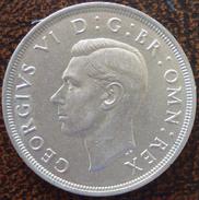 (J) GREAT BRITAIN: Silver Crown 1937 UNC (3554)  SALE!!!!! - 1902-1971 : Monnaies Post-Victoriennes