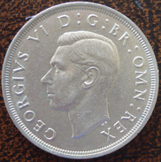(J) GREAT BRITAIN: Silver Crown 1937 UNC (3554)  SALE!!!!! - 1902-1971 : Monedas Post-Victorianas