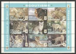 TT113 1998 DU NIGER FAUNA WILD CATS SCOUTISM 1SH MNH