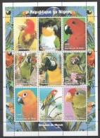 TT117 1998 DU NIGER FAUNA BIRDS PARROTS 1SH MNH