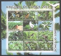 TT130 2013 KINGDOM OF TONGA FAUNA BIRDS 1SH !!!MICHEL 53 EURO MNH