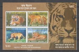 TT138 2013 BANGLADESH FAUNA WILD ANIMALS SAVE TIGER PROTECT MOTHER-LIKE 1KB MNH