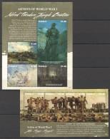 TT172 2015 TUVALU WWI ARTISTS OF WORLD WAR 1 2KB MNH
