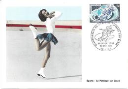 CARTE MAXIMUM 1er JOUR - N° 1665 - PATINAGE Sur GLACE - LYON - Cartes-Maximum
