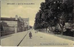 "55 - BAR LE DUC : Quai Du Champ De Mars - CPA "" Vernie ""-  Meuse - Bar Le Duc"