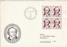SBK J 153 Mi: 602. Jeremias Gotthelf, Lützelflüh - Goldbach , Gotthelf Dorf Am 18.12.54 Nach Dornach - Lettres & Documents