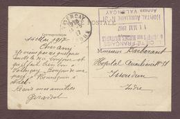 Franchise Militaire Service Santé ** Hôpital Auxiliaire N° 31 Annexe Valençay  ** 1914  1918  INDRE