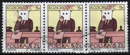 POLAND 1996 Strip 3  V Used The Signs Of The Zodiac