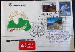 LATVIJA  Nice Cover To Sarajevo,Bosnia 2001 Y.