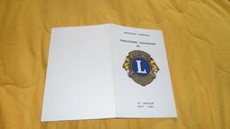 DOCUMENT REPUBLIQUE GABONAISE 50e ANNIVERSAIRE DU LIONS INTERNATIONAL 14 JANVIER 1917 - 1967./ HISTORIQUE DE L'ASSOCIATI