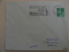 LANGEAIS SUR LES BORDS DE LA LOIRE SON CHATEAU INDRE ET LOIRE - Postmark Collection (Covers)