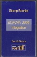 Europa Cept 2006 Malta Booklet ** Mnh (34161) - 2006