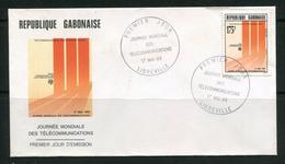 """GABON- Enveloppe 1er Jour Du 17 Mai 1993 De LIBREVILLE """"journée Mondiale Des Télécommunications"""" Avec Timbre Y&T N°758"""