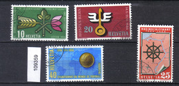 Schweiz Zst. 316 - 319, Mi. 593 - 596 O