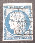 LOT OE/62 - CERES N°4 - GRILLE NOIRE - VOISIN AU NORD - Cote : 60,00 € - 1849-1850 Cérès