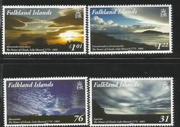 2015 Falkland Islands Clouds Weather Meteo Complete Set Of 4 MNH @FACE - Falkland Islands
