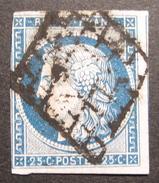 LOT OE/63 - CERES N°4 - GRILLE NOIRE - VOISIN A L'EST - Cote : 60,00 € - 1849-1850 Ceres