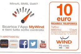 Ref.10 - Wind - € 10 - Scarica L' App Di Wind - Validita 31/12/2017 - Schede GSM, Prepagate & Ricariche