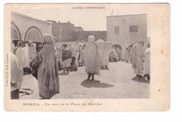 Algerie Biskra Un Coin De La Place Du Marché Algérie Pittoresque Cpa Animée Carte Non Voyagée