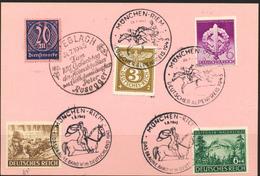 Deutsches REICH 1943- Sonderstempel  -  Zum 100 Geburtstag Peter Rosegger Und München -Riem - Deutschland