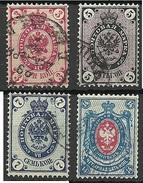 RUSSLAND RUSSIA 1889 Michel 47 - 50 X O - 1857-1916 Impero