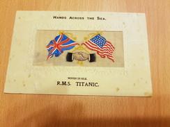 Titanic Silk Postcard Postally Used 10th June 1912. - Steamers