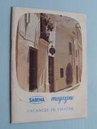 SABENA Magazine Mars 1963 - N° 41 ( Formaat 13 X 18 Cm. / Details Zie Foto's ) ! - Dépliants Touristiques