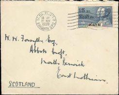 1933 THAILAND SINGLE TO SCOTLAND - Stamps