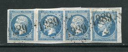 FRANCE- 4 Timbres Y&T N°14B GC 1989 (LAVAUR 77) Sur Fragment - 1849-1876: Periodo Classico