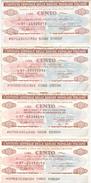 85 - N. 4 MINIASSEGNI ISTITUTO CENTRALE DELLE BANCHE POPOLARI ITALIANE - Monete & Banconote