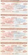 86 - N. 4 MINIASSEGNI ISTITUTO CENTRALE DELLE BANCHE POPOLARI ITALIANE - Monete & Banconote