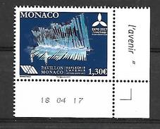 Monaco 2017 - Yv N° 3091 ** -  ASTANA (Mi N° 3349) - Unused Stamps