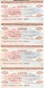 87 - N. 4 MINIASSEGNI ISTITUTO CENTRALE DELLE BANCHE POPOLARI ITALIANE - Monete & Banconote