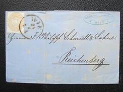 BRIEF Wien - Reichenberg 15Kr EF  1863 //// D*24614 - 1850-1918 Imperium