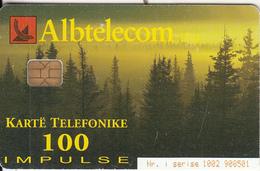 ALBANIA(chip) - Landscape, Albtelecom Telecard 100 Units, Tirage 90000, 12/01, Used - Albania