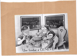 SUISSE - Une Fondue à GENEVE - Edit Jaeger - ORL - - GE Genève