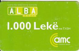 ALBANIA - AMC Prepaid Card 1000 Leke, Exp.date 13/01/08, Used - Albania