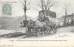 Le Puy - Les Messageries Des Cevennes En Hiver ; Type De Courrier De Montagne Dans Le Velay - Le Puy En Velay