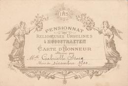 Carte D'Honneur 1900 Belgique, Hoogstraten. - Cartes
