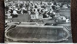 CPSM LANNEMEZAN 65 LE STADE MUNICIPAL EN AVION SUR ED LA CIGOGNE 1960 - Estadios
