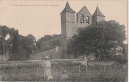 CPA De Montagnac Sur Lède  (47)  L'église écrite Animé TB - Other Municipalities