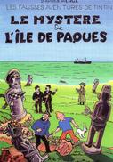 Cpsm  Tintin   Le Mystere De L Ile De Paques  (signes A Le Guilloux) - Bandes Dessinées